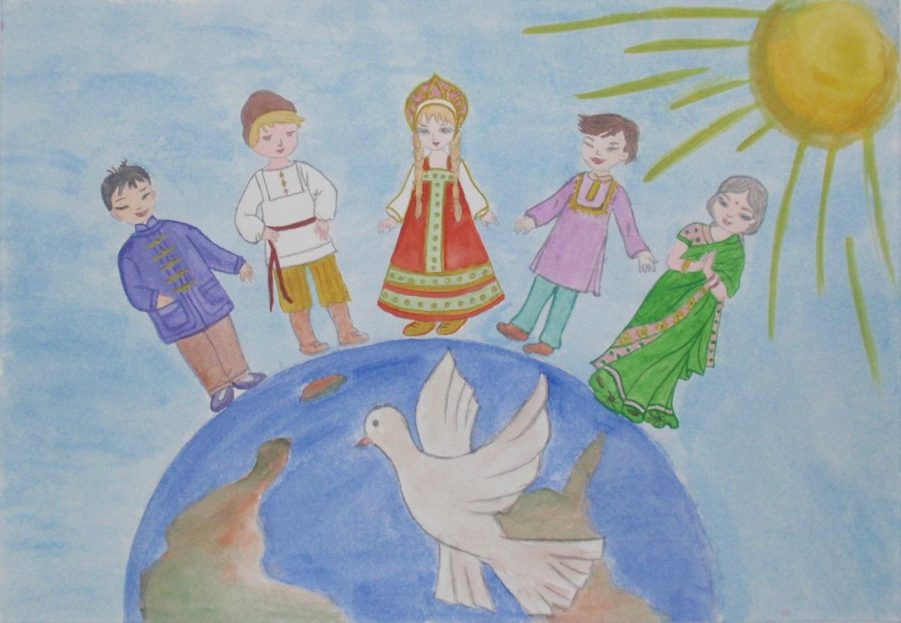 Картинки детей дети россии за мир