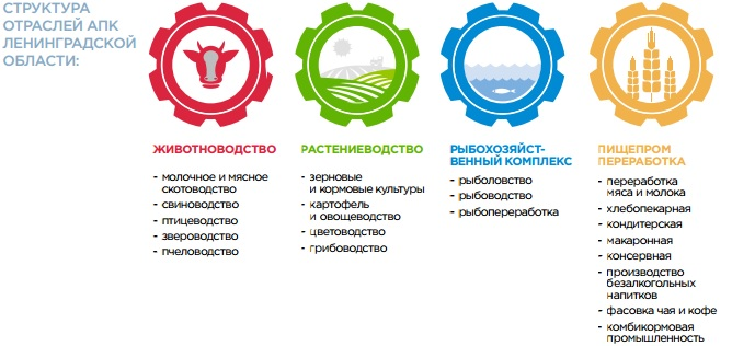 структура АПК Ленинградской области